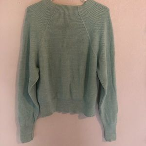 Light Blue/Turquoise Free People Wide Neck Sweater